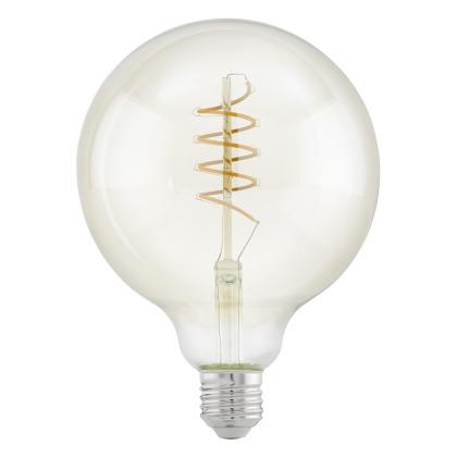 zdroj-E27-LED G125 4W 2200K jantar SPIRAL 11683 - Eglo