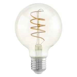 zdroj-E27-LED G80 4W 2200K jantar SPIRAL 11722 - Eglo