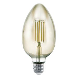 Zdroj-E27-LED B80 4W kouřový 3000K 1ks 11839 - Eglo